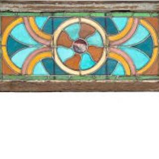 hard to find original 1880's early chicago residential stained glass