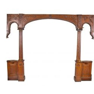 all original and intact 19th century american salvaged chicago varnished