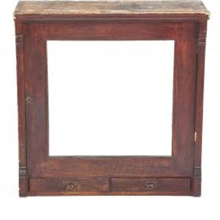 late 19th century solid quartered oak wood salvaged chicago cabinet