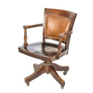 late 19th or early 20th century adjustable johnson office desk chair
