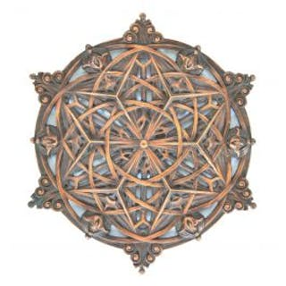 bronze-plated cast aluminium sullivan-designed replica rosette fabricated