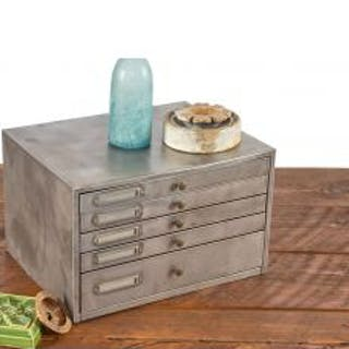 refinished vintage american industrial salvaged chicago brushed metal