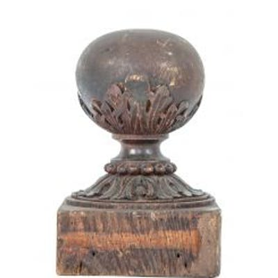 richly carved late 19th or early 20th century solid oak wood interior