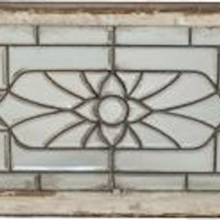 single late 19th century antique american salvaged chicago all-beveled
