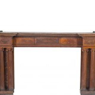 oversized original 19th century antique american quartered oak wood