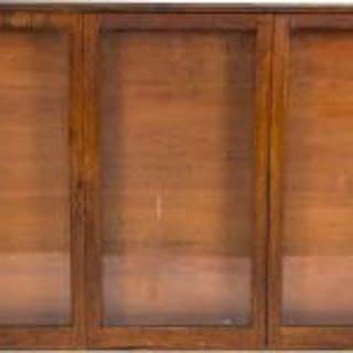 all original early 20th century three-panel interior oak wood chicago