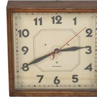original wall-mount american art deco style interior electric clock