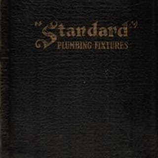 "early 20th century highly illustrated ""standard"" brand american sanitary"