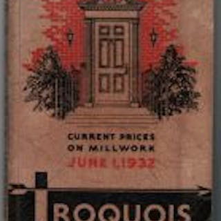 rare early 1930s iroquois millwork corporation dealers price book