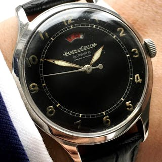 Rare Jaeger leCoultre Power Reserve with black dial power matic