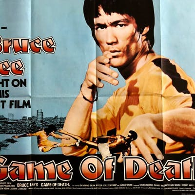 Original Game of Death Movie Poster - Bruce Lee - Action - Robert Clouse