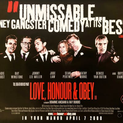 Original Love, Honour and Obey Movie Poster - Gangsters - Crime