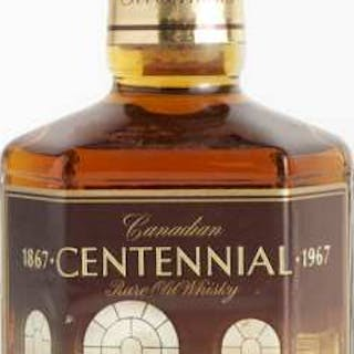 CANADIAN CENTENNIAL PURE OLD WHISKY 15 YEARS (ONE 25 OZ) -