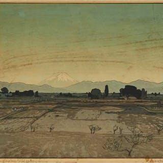 Hiroshi Yoshida (1876-1950), Fujiyama from Musashino - 吉田博 (1876-1950)