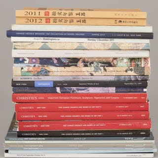 A Group of Twenty-Three Asian Art Catalogues and Reference Books -