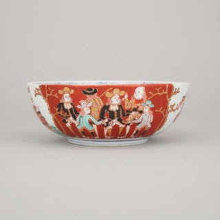 A Japanese Arita 'Dutchmen' Bowl, Kigyoku Houtei no Chin Mark - 日本有田燒人物碗
