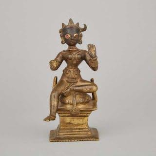A Gilt Bronze Figure of Kali, India, 17th Century - 十七世紀 印度 銅鎏金卡利女神像