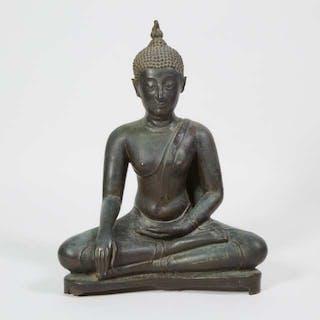 A Bronze Seated Buddha, Burma, Early 20th Century - 二十世紀早期緬甸 銅佛坐像