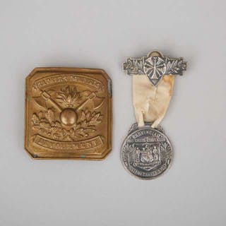 Provincial Fire Chiefs Convention Medal, Ottawa, 1915 and Buckle -