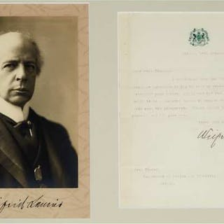 Sir Wilfrid Laurier Autographed Portrait and Letter, 1911  -