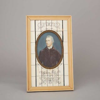 British School Large Portrait Miniature of William Pitt the Younger, c.1900 -