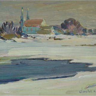 CHARLES WALTER SIMPSON, R.C.A. - THE BACK RIVER, MONTREAL, CIRCA 1930