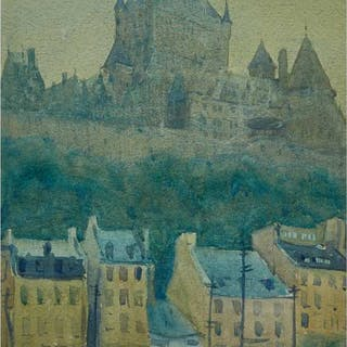 CHARLES FRASER COMFORT, O.S.A., P.R.C.A. - CHATEAU FRONTENAC, QUEBEC CITY, 1926