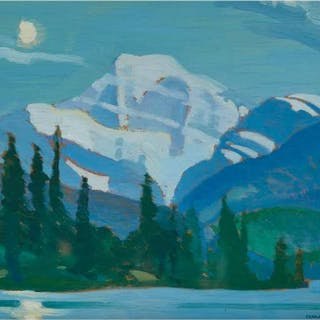 CHARLES HEPBURN SCOTT A.R.C.A - SUMMER MOON - MT. EDITH CAVELL