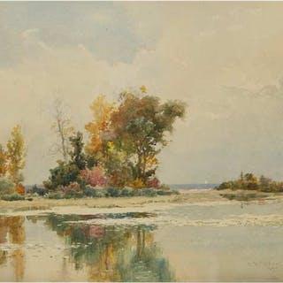 LUCIUS RICHARD O'BRIEN, O.S.A., P.R.C.A. - REFLECTIONS, TORONTO ISLANDS, 1890