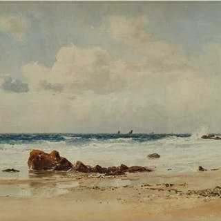 LUCIUS RICHARD O'BRIEN, O.S.A., P.R.C.A. - IRISH CHANNEL OFF ST. IVES, 1889