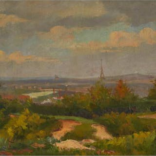 FRANKLIN MILTON ARMINGTON - VIEW OF EIFFEL TOWER, PARIS