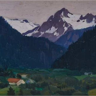 CLARENCE ALPHONSE GAGNON, R.C.A. - PAYSAGE, SWITZERLAND