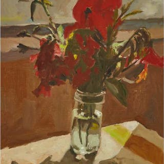 HELMUT GRANSOW, R.C.A. - STILL LIFE WITH HIBISCUS, 1980
