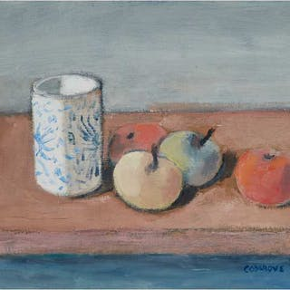STANLEY MOREL COSGROVE, R.C.A. - STILL LIFE WITH VASE AND APPLES