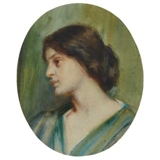 LAURA ADELINE MUNTZ LYALL, O.S.A., A.R.C.A. - PORTRAIT OF A YOUNG WOMAN