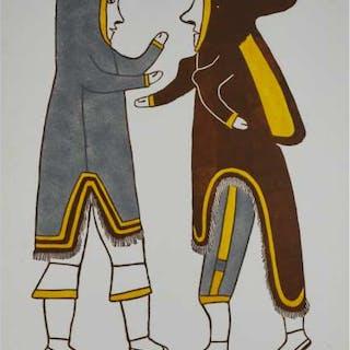 SIMON TOOKOOME (1934-2010), Baker Lake / Qamani'tuaq - MAN AND WIFE