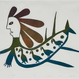 ANIRNIK OSHUITOQ (1902-1983), Cape Dorset / Kinngait - SEA SPIRIT