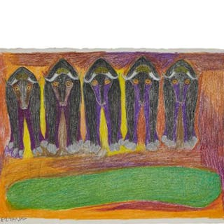 JANET KIGUSIUQ (1926-2005), Baker Lake / Qamani'tuaq - UNTITLED