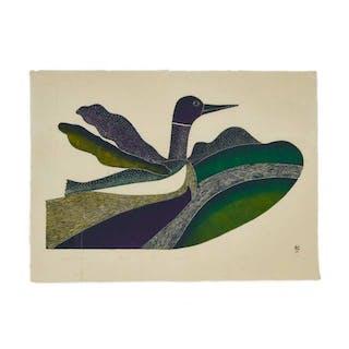 PUDLO PUDLAT (1916-1992), Cape Dorset / Kinngait - METIQ ON MALLIK