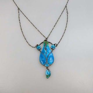 Murrle Bennett 950 Grade Silver Arts & Crafts Pendant -