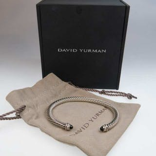 David Yurman Sterling Silver Open Bangle -