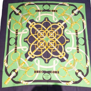Hermes Eperon D'Or Silk Scarf -