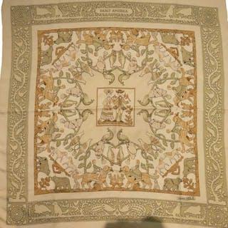 Hermes Early America Silk Scarf -