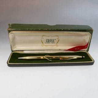 Cross 18K Yellow Gold Ball Point Pen -