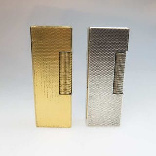 Two Dunhill Rollagas Lighters -