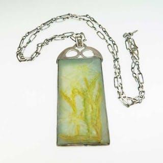 Art Noveau Style Art Glass Panel -