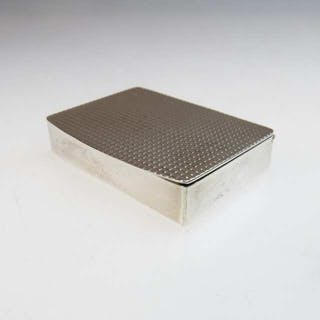 English Silver Pill Box -