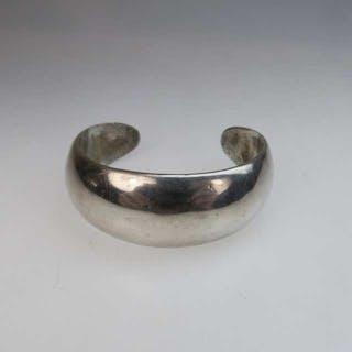 Mexican Sterling Silver Open Cuff Bangle -