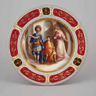 'Vienna' Decorated Cabinet Plate, early 20th century -