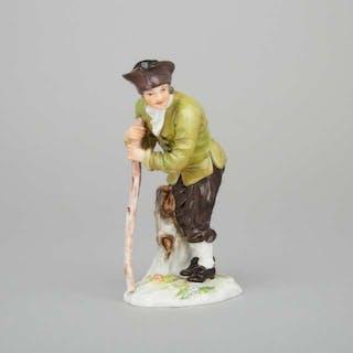 Meissen Figure of a Traveler, early 20th century -